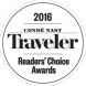 2016 Conde Nast Traveler Readers' Choice Award