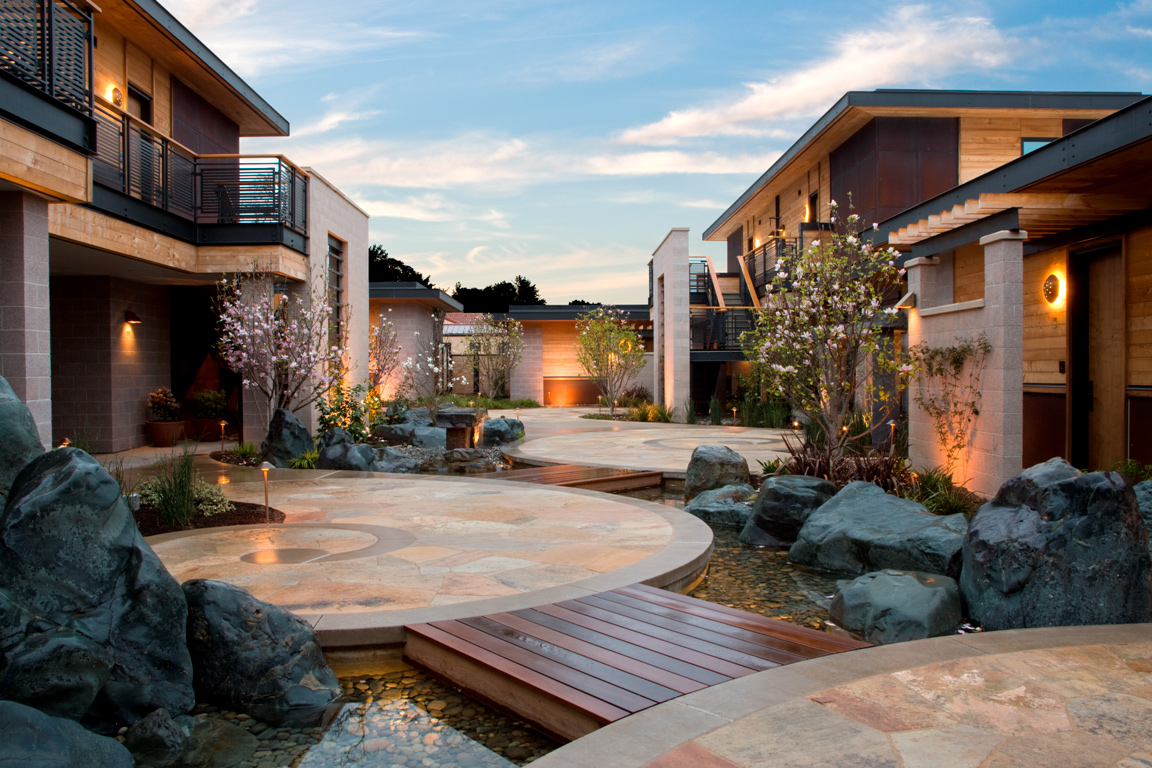 Courtyard of our Napa Valley Resort