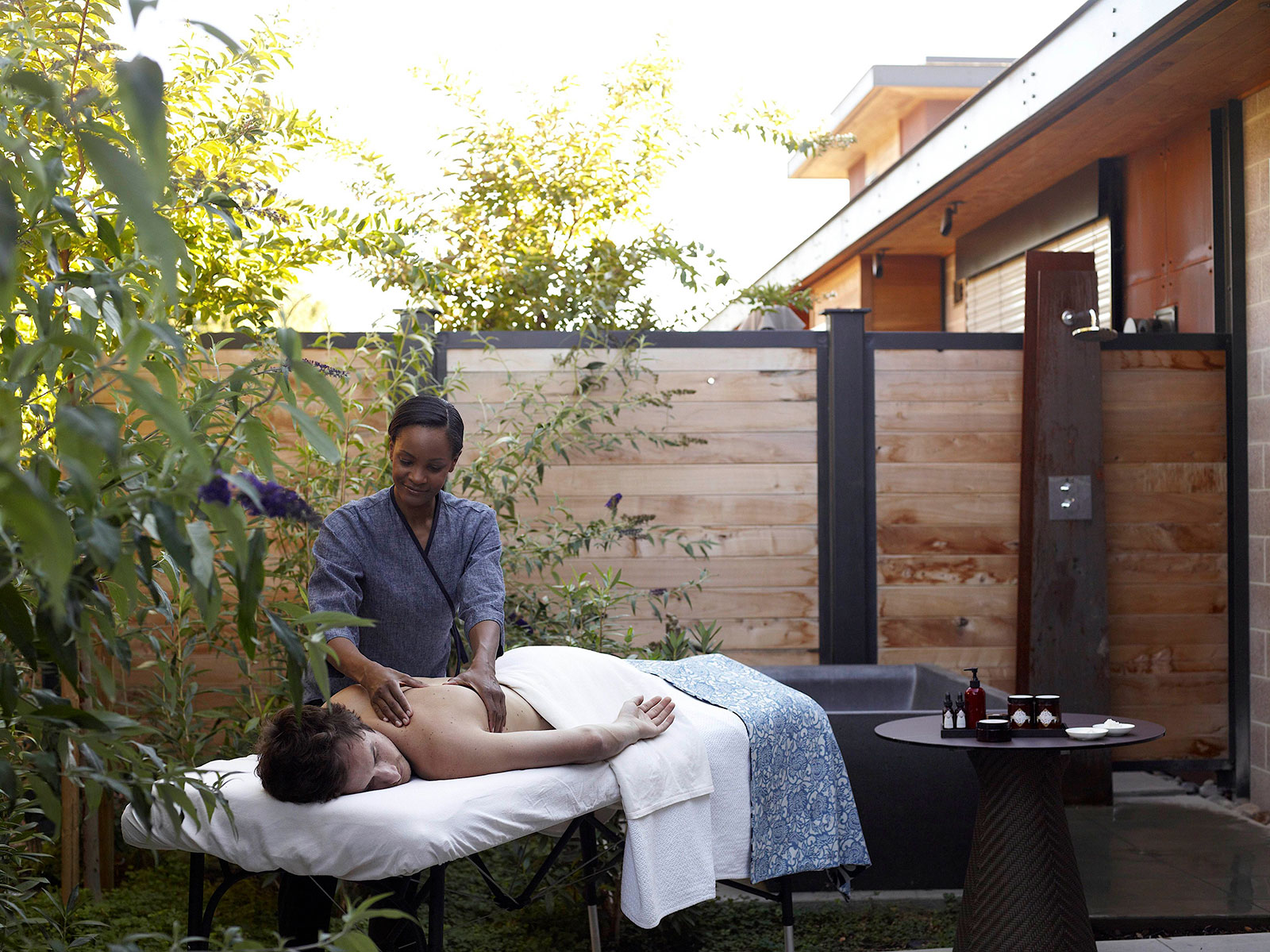 Outdoor Massage at our Spa Resort in Yountville, CA