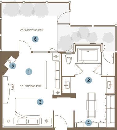 king spa suite floorplan