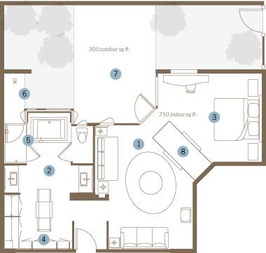 King Tufa Suite Floorplan